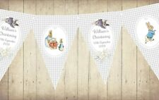 2.5m Personalised Beatrix Potter Peter Rabbit Bunting/Banner - Any Occasion