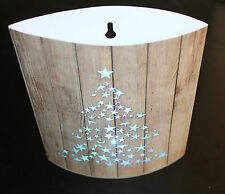 Festive Christmas Tree Night Light Lantern LED Card 16.5 x 13cm - Changes Colour