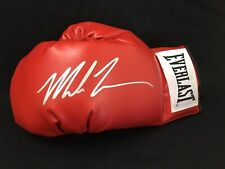 Mike Tyson Autographed/Signed Red Everlast Left Hand Glove ATHLETE CERTIFIED