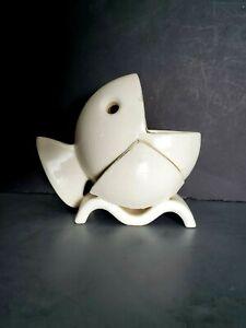 Vtg Gold Coast MCM Art Deco Ceramic Hand Built Abstract Fish Figurine Japan