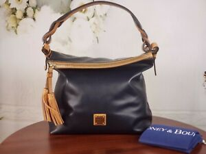 Dooney & Bourke - Smooth Leather Small Sloan Shoulder Bag - Midnight Blue