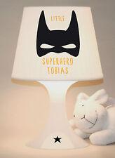 """Kinderlampe Schlummerlampe """"Superhero""""Superheld, Name personalisierbar"""