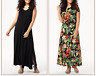 A371365 Attitudes by Renee Jersey Set of 2 Maxi Dresses BLACK/MAUI PXL-729
