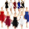 Women's Lyrical Dance Dress Leotard Ballet Gymnastics Bodysuit Dancewear Costume