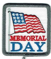 Girl Boy cub MEMORIAL DAY Flag Parade Celebration Patches Badges SCOUTS GUIDES