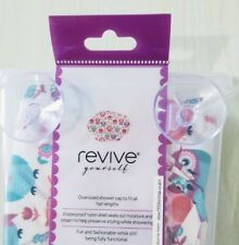 Revive Owl Print Luxury Shower Cap in Plastic Holder Attaches to Wall