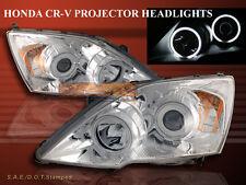 07-11 HONDA CR-V CRV TWIN HALO ANGEL EYES PROJECTOR HEADLIGHTS CCFL CHROME NEW