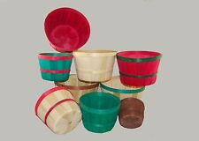 "Wooden Berry Baskets Without Handle Round 6 QT 9.5"" x 6.75""  - Qty 50"
