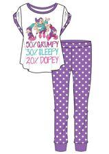 Ladies Women's Pyjamas Snow White Nightwear Cotton Summer PJs Seven Dwarfs