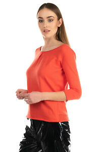 RRP €110 ROSSOPURO Jumper Size 42 / M Thin Knit Inverted Pleat Made in Italy