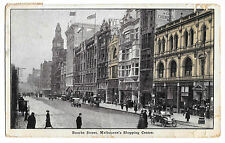 Bourke St, Melbournes Shopping Centre PPC, Victoria PMK 1921 to Occupied Germany