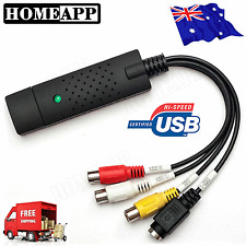 AU STOCK Easy Cap VHS To DVD Audio Video Converter Capture Card USB 2.0 Adapter