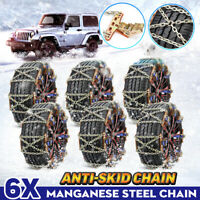 6X Steel Car Tire Snow Chain Anti-skid Wear-resistant Chains Winter Safety Belts