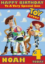 personalised birthday card Toy Story any name/age/relation