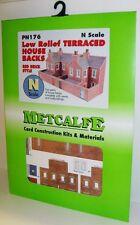 Metcalfe PN176 Low Relief Terraced House Backs, Red Brick (N)  Railway Model