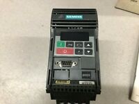 USED SIEMENS MICROMASTER 1/3 HP 230 VAC 0-400 HZ 3 PH 1.7 AMPS INVERTER DRIVE 6S
