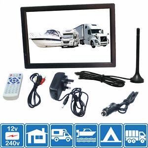 "Motorhome Caravan Boat 14"" Inch PORTABLE TV Freeview HD USB & SD PVR 12 V 240 V"
