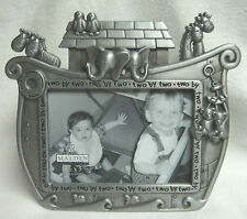 New Noah'S Ark Pewter-Tone Easel-Back 3 1/2 x 5 Picture Frame by Malden