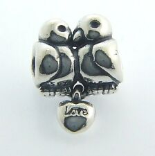 791033 AUTHENTIC PANDORA STERLING SILVER LOVE BIRDS BEAD NEW IN BOX