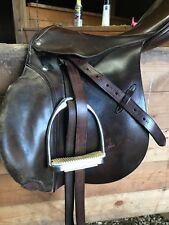 Stubben 17 in English saddle, Brown