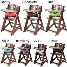 NEW Height Right Mahogany High Chair with Infant Insert and Tray