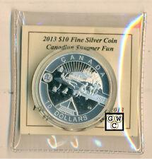 2013'Canadian Summer Fun-O Canada' Prf $10 Silver Coin .9999 Fine(NT)(13122)OOAK