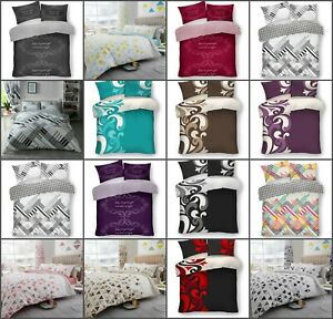 4 PCS New Complete Bedding Set Duvet Cover With+2 Pillowcase+1 Fitted Sheet G