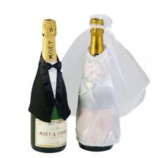 """Flaschen-Deko """"Hochzeit"""" - Anzug & Brautkleid"""