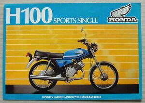 HONDA H100-A SPORTS SINGLE MOTORCYCLE Sales Brochure 1981