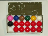 "1 5/8"" 17 BALL SNOOKER BALLS AVAILABLE WITH OR WITHOUT TRIANGLE"