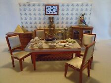 DOLLS HOUSE FURNITURE MIXED LOT DINING ROOM & 25+ACCESSORIES & 12TH SCALE
