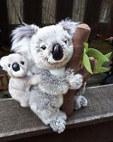 Stofftier Koala Mama mit Baby Australien 25cm