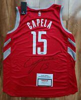 Clint Capela Signed Auto Houston Rockets NWT Fanatics Jersey XL TRISTAR COA