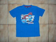 T-shirt MC bleu pour garçon en 8 ans en TBE