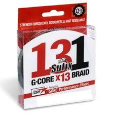 Sufix G Core 131 braided 13 Strand 150yd or 300yd Fishing Line Chartreuse braid