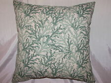 "2 DECORATIVE THROW PILLOW CUSHION COVERS 17"" INDOOR OUTDOOR CORAL"