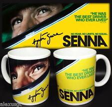 tazza mug AYRTON SENNA formula 1 pilot car brazil scodella ceramica