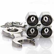 4x Car Tyre Stems Air Cover Valve Caps + Wrench Keychain Key ring For NEW
