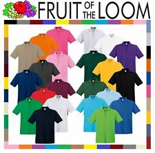 Mens Polo Shirts Fruit of the Loom Premium Polo 100% Cotton Polo Shirt SS255