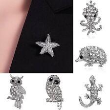 Women Owl Animal Crystal Rhinestone Brooch Pin Costume Jewelry Decor Xmas Gift