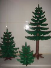 playmobil lot de 3 sapins
