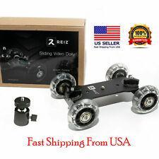 Black Table Dolly Mini Car Desktop DSLR Camera Camcorder Video Rail Track Slider