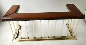 Early 20th Century Georgian Brass Club Fender with full surround leather seat