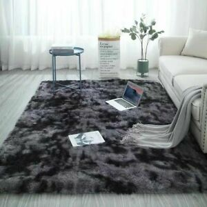 Fluffy Large Rugs Anti-Slip Super Soft Carpet Mat Floor Living Room Bedroom Rug