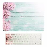 "Pink Hyacinth Hard Case +Keyboard Skin for Macbook Pro 13"" Touch Bar A1989/A1706"