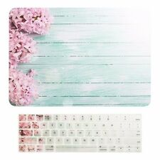 "Pink Hyacinth Hard Case +Keyboard Skin for Macbook Pro 13"" Touch Bar A1989/A1706"