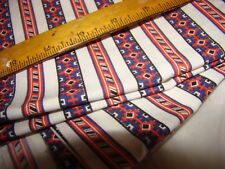 "EARLY VINTAGE  RED WHITE & BLUE  Cotton  32 W"" BY 52 L""  quilts FABRIC"