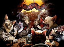 Cats Playing Poker Singing Smoking Funny Poster Art Picture Home Decor 13x19