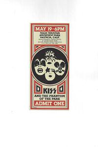KISS-Phantom of the Park CommemorativeTicket