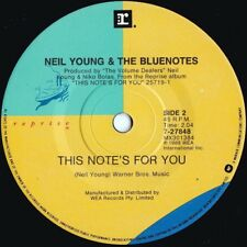 Neil Young Orig Oz 45 This notes for you Vg+ '88 Reprise 727848 Folk Rock Pop